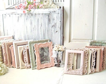 Blush Wedding Picture Frames, Pink Ornate Wedding Table Frames, Mint Picture Frames, Cream Table Number Frames, 4 x 6 Frames, 5 x 7 Frames