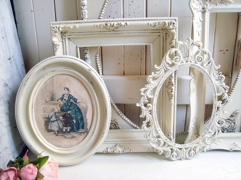 Vintage Ornate Frames, Antique Cream and Gold Wedding Frames, Large ...