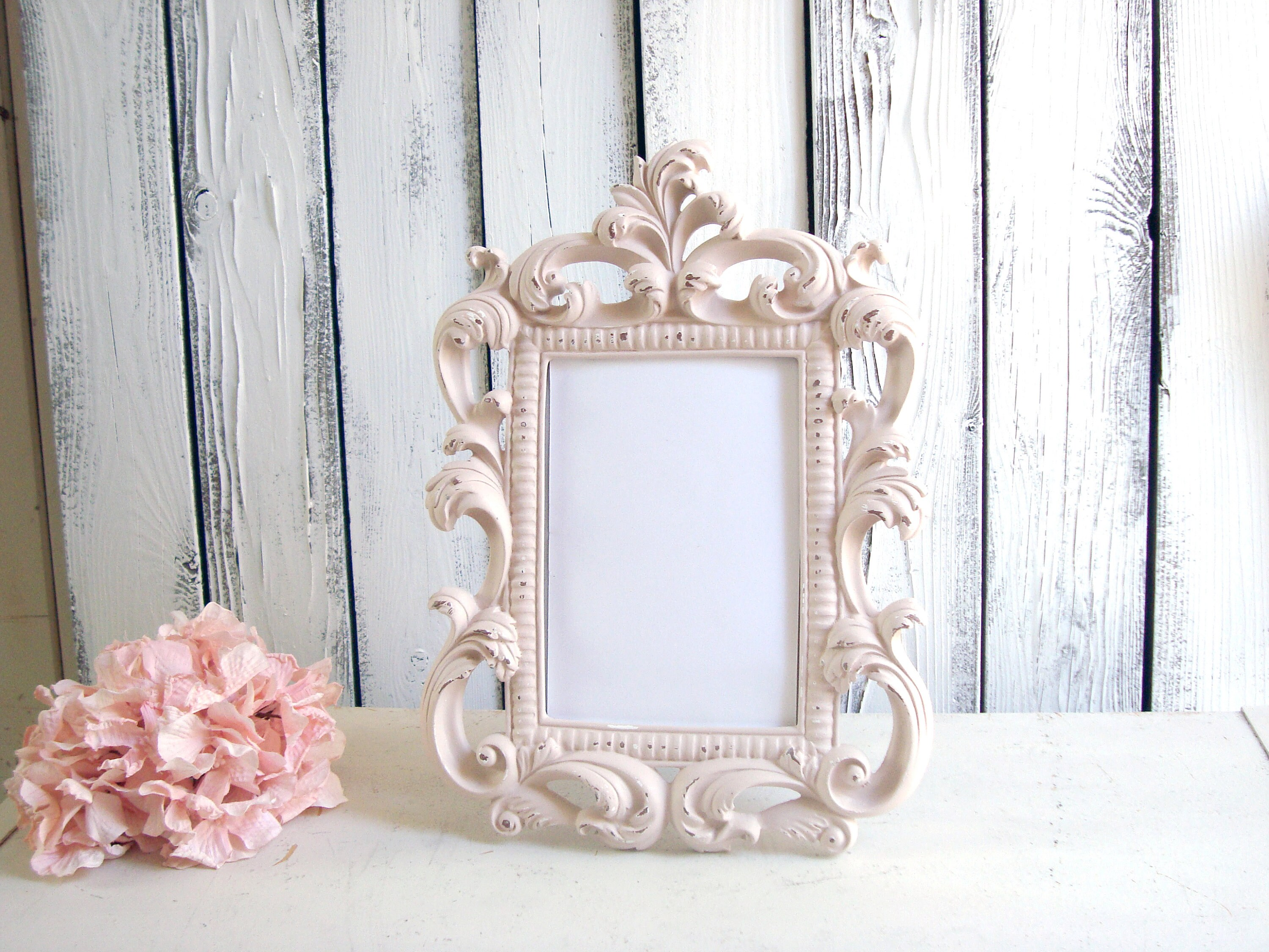 Blush Ornate 5 X 7 Picture Frame Wedding Table Number Frame Easel