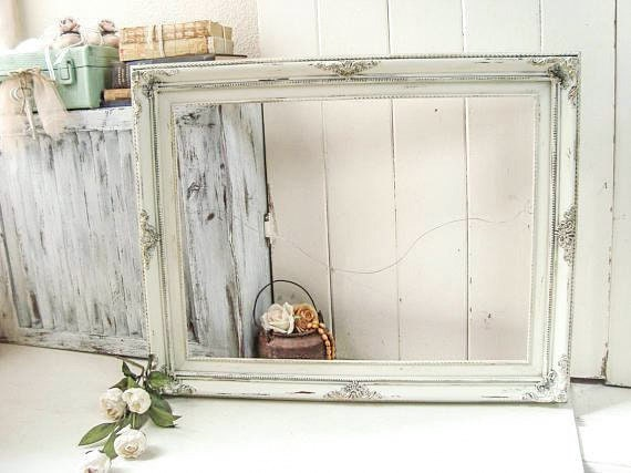 Antique Cream and Gold Large Ornate Open Frame, Farmhouse Off White ...