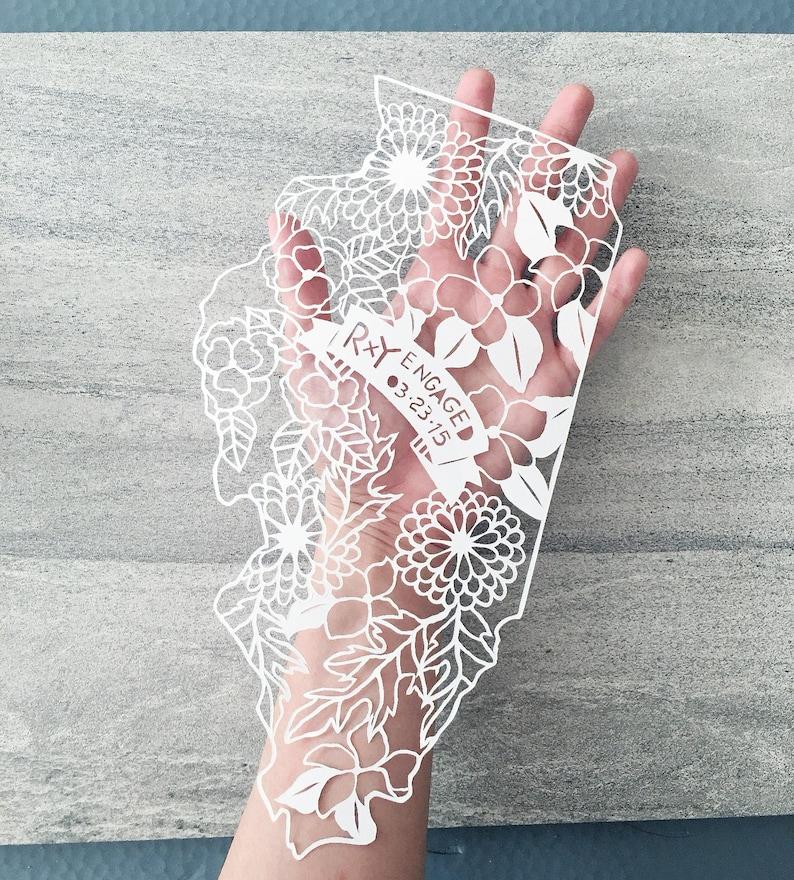 Personalized Papercut Map Custom Map Wedding Gift image 0