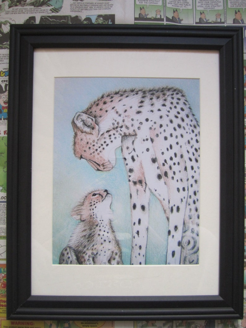 /'Mephisto/' Limited Edition Print Cheetah