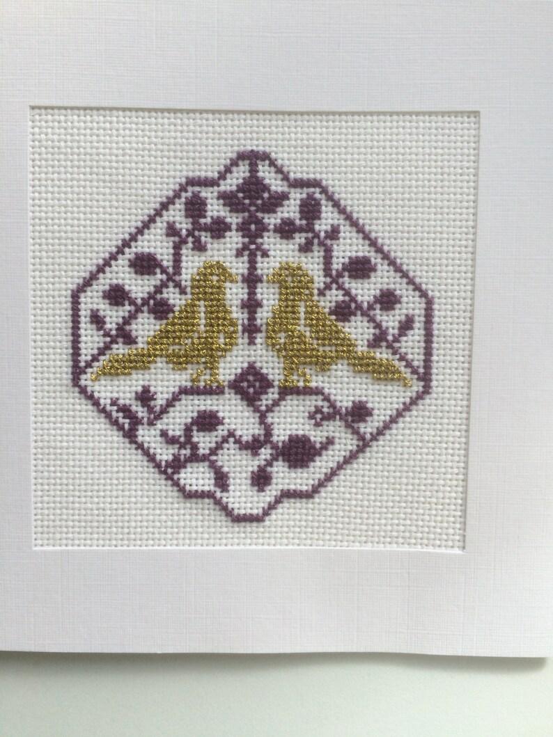 CUSTOM Embroidered Anniversary Card