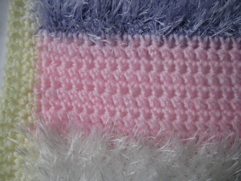 LOVELY Grey Hand Knitted Crochet Rose Bring Home  Baby Blanket Cot Pram Handmade