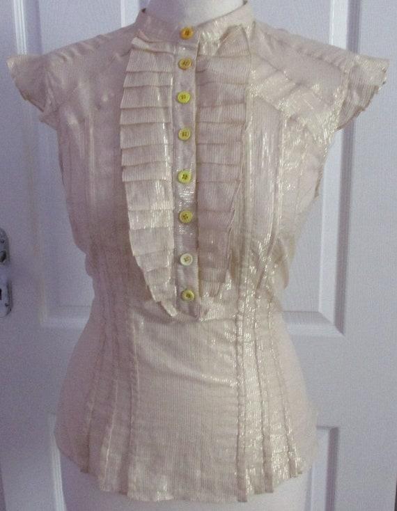 Vintage Gold Thread Top