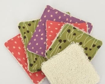 Reusable makeup remover pads ,organic cotton and bamboo cosmetics pads, zero waste eco pads, resuable face wipes