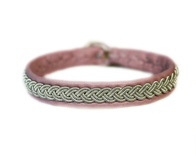 No. 1007: Sami Bracelet of pewter thread and reindeer leather.