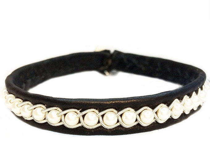 No. 1094: Pewter bracelet with Swarovsky beads