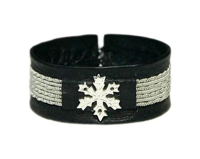 No. 1146 Snowflake Pewter bracelet