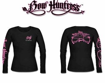 d165089602493 Bow Huntress long sleeve women's bow hunting t shirt,huntress shirt,deer  skull