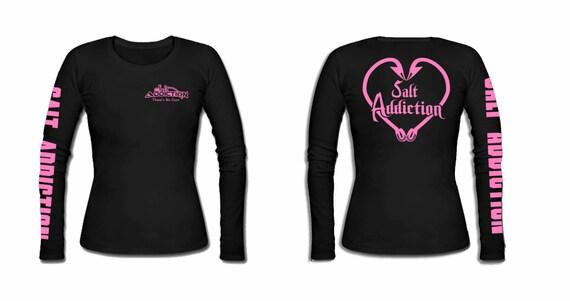 Salt Addiction long sleeve saltwater fishing t shirt,sailfish,life,ocean,reel