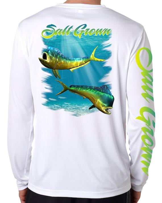 Salt Grown Microfiber Marlin Uv 50 life fishing long sleeve shirt offshore