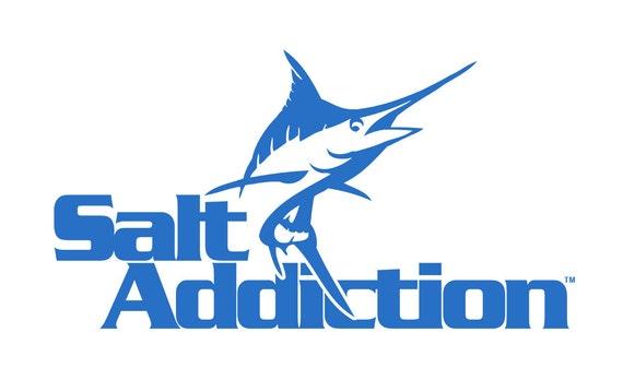 Salt addiction vinyl window decals sticker marlin saltwater