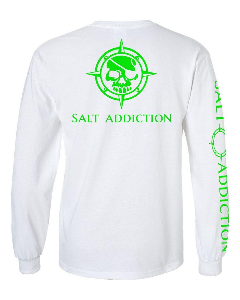 0a0a82252 Salt Addiction long sleeve saltwater fishing t shirt pirate   Etsy