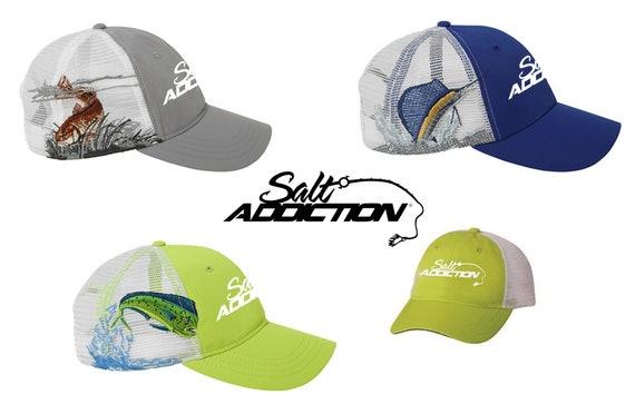 Salt Addiction Saltwater Fishing visor hat Flats,ocean,deep sea,rod,life,reel