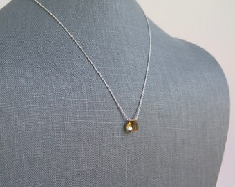 Citrine Necklace - November Birthstone - Sterling Silver