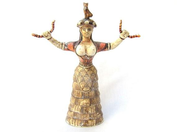 Snake Goddess Statue Greek Minoan Statue Daughter Ancient Greece Statue