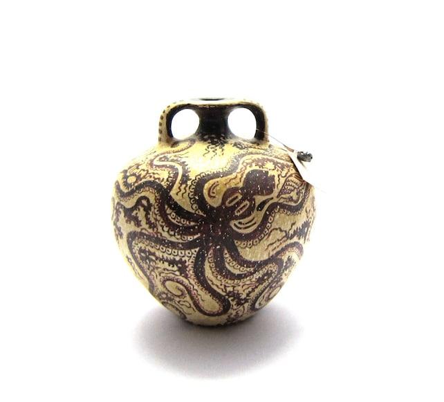 Greek Vase Minoan Pseudostomos Octopus Vase Original In Etsy