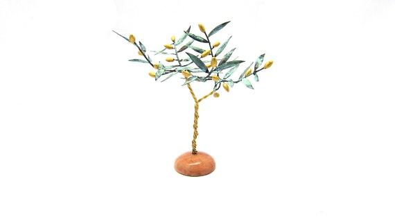 Cretan Olive Tree Table Lamp Handmade