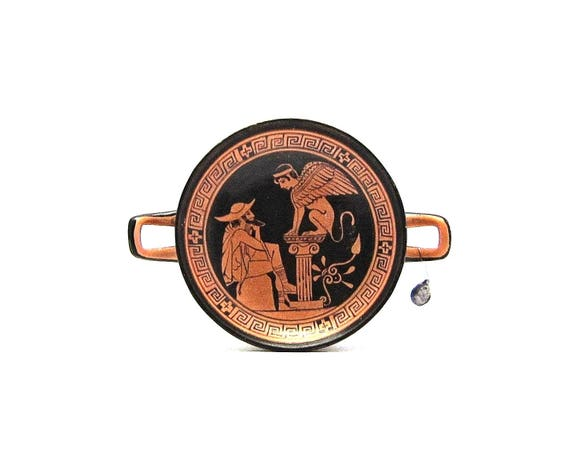 Kylix Greek Vase Attic Red Figured Kylix Of Oedipus And Etsy