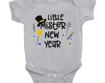 Little Mister New Year Onesie Infant Bodysuit