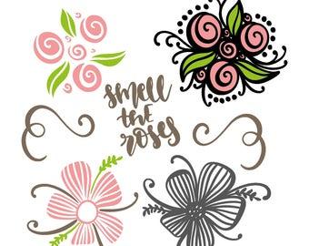 Smell the Roses - Digital SVG File