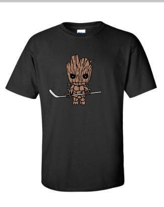 Groot Hockey T Shirt - Solid Color Adult Or Youth Sizes. Ping Unisex Tshirt