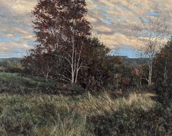 Landscape Painting,Oil on Panel,Contemporary Landscape,Impressionist Landscape,Clouds,Hudson Valley Landscape,Gregory Arnett,2020-0122