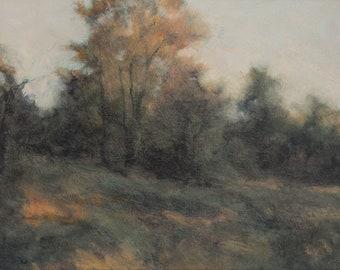 Landscape Painting,Oil on Panel,Tonalist Landscape,Contemporary Landscape,Impressionist Landscape,Nature Art,Landscape Painting,2009-0106