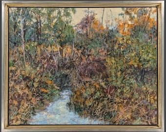 Woodstock,Landscape Painting,Oil on Panel,Impressionist Landscape,Hudson Valley,Nature Art,Autumn Colors,Framed,Gregory Arnett,2021-0122