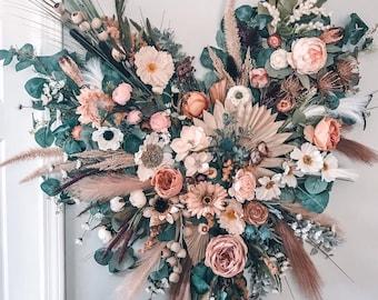 Floral Wall Hanging, Floral Nursery Decor, Boho Nursery Decor, Crib Art, Statement Floral Decor, Boho Wall Decor, Flower Wall Hanging