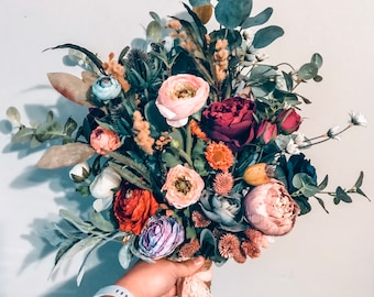 Boho Bouquet, Wedding Bouquet, Wildflower Bouquet, Eucalyptus Bouquet, Boho Bridal Bouquet, Large Bouquet, Spring Bouquet, Summer Bouquet
