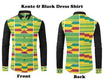 Men's Afrocentric Dress Shirts, Shirts in Various Prints, Mens Fashion Dress Shirts, Afrocentric Long Sleeve Shirts, Unique Mens Dress Shirt