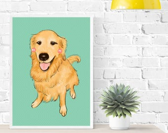 Pet Portrait Custom Illustration,  Personalized Pet Portrait, Animal Drawing, Custom Present, Digital Pet Portrait Gift