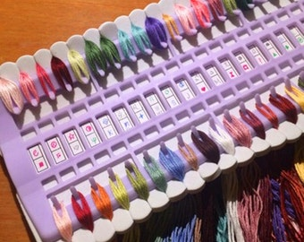 Plastic Embroidery Floss Thread Organizer Sorter  Up to 50 Threads Cross Stitch Tool Accessories Supplies
