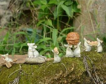 Little Rats Series  Fairy Garden Terrarium Accessories Miniature Woodland Accessory Decoration