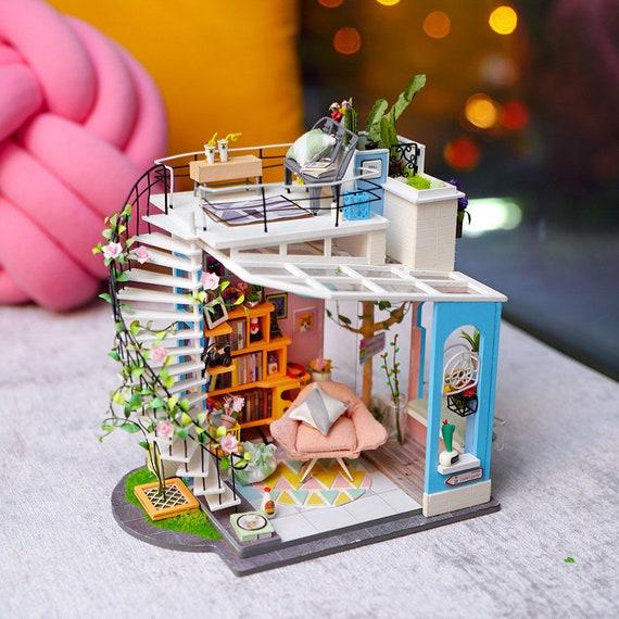 Resultado de imagen de Robotime DIY Mini Dollhouse Building - Dora's LOFT