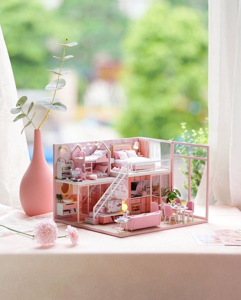 1: 24 DIY Miniature Dollhouse Kit Scenery Meeting Your Sweet image 0