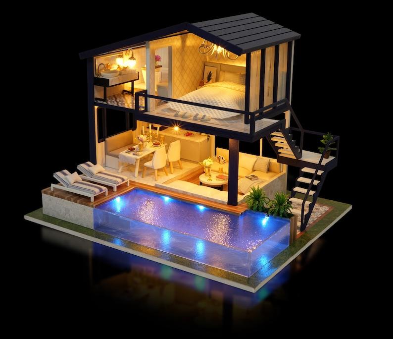 1: 24 DIY Miniature Dollhouse Kit Time Apartment Loft One image 0