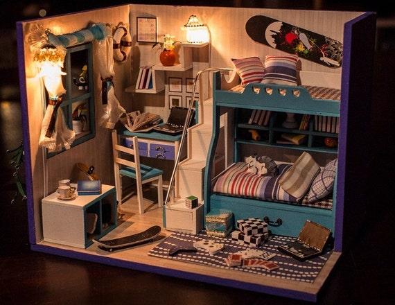 Miniature Dollhouse Diy Kit My Little Good Buddies Boys Etsy