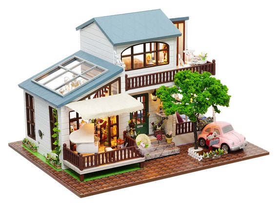 1 24 Diy Miniature Dollhouse Kit London Holiday Christmas Etsy