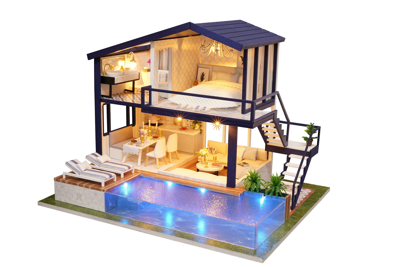 1 24 diy miniature dollhouse kit time apartment loft one etsy