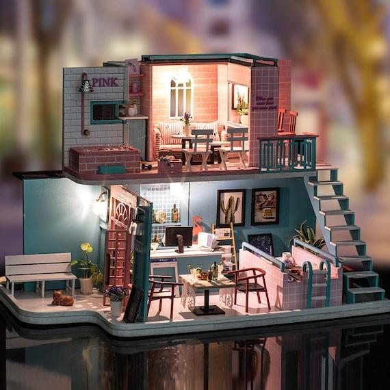 PARIS COACH RIDE Dollhouse Picture MADE IN AMERICA Framed Miniature Art