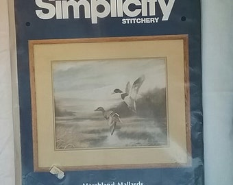 Vintage Crafts New in Package Simplicity Stitchery Kit Mom/'s Favorite Chocolate Chip Cookie Recipe
