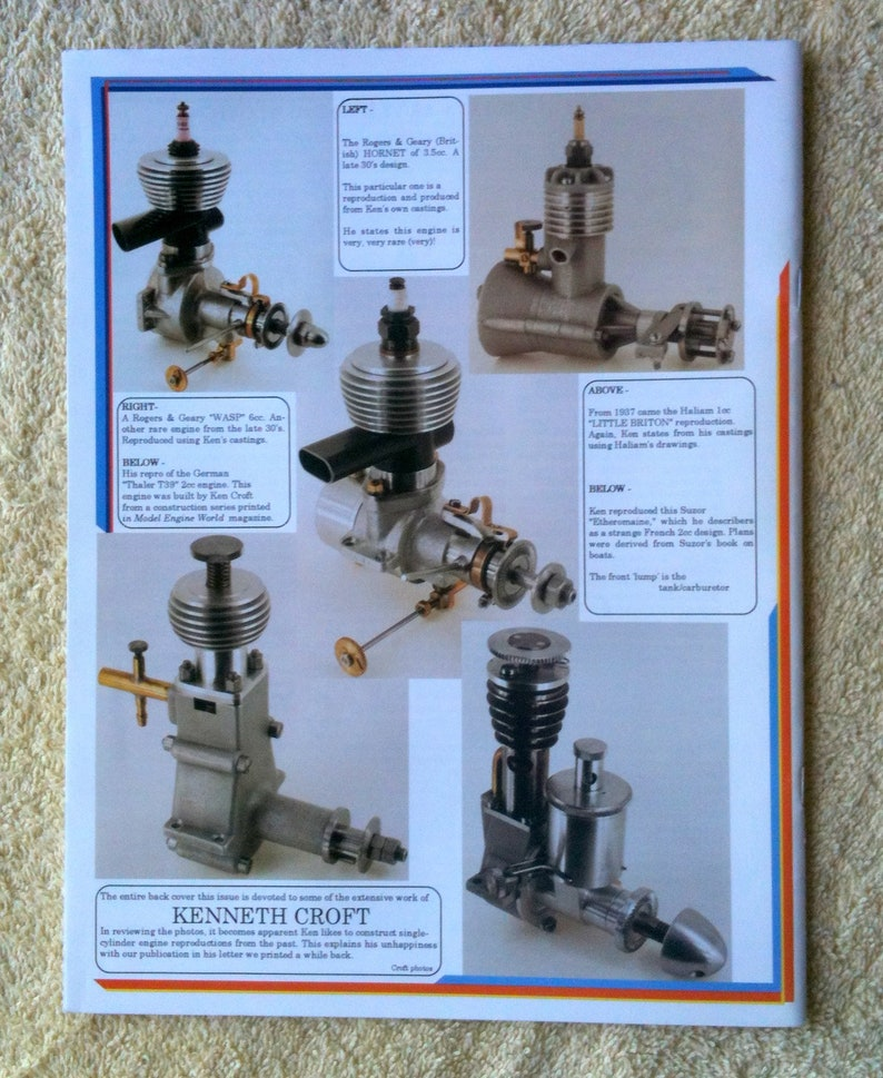 Strictly IC Miniature Engine Design and Construction SIC Feb March 1997 Vol 10 No 55 Miniature Engine Building Model Engines