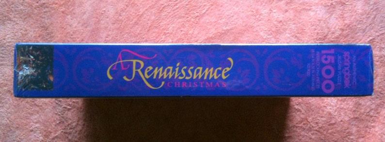 Vintage Springbok Puzzle 1500 Jigsaw Puzzle Renaissance Christmas Puzzle  Factory Sealed XZL9020 1992 Deserdog Destash