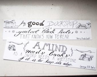 CUSTOM hand-lettered bookmark