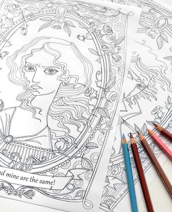 Wuthering Heights Coloring Pages Heathcliff And Catherine