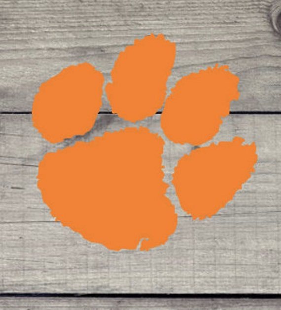 Can be | Tiger Etsy Clemson Decal. or out indoors Paw used