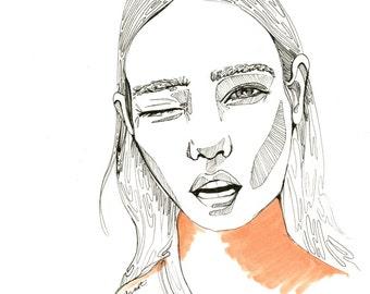 i-D Fashion illustration/ Art Print